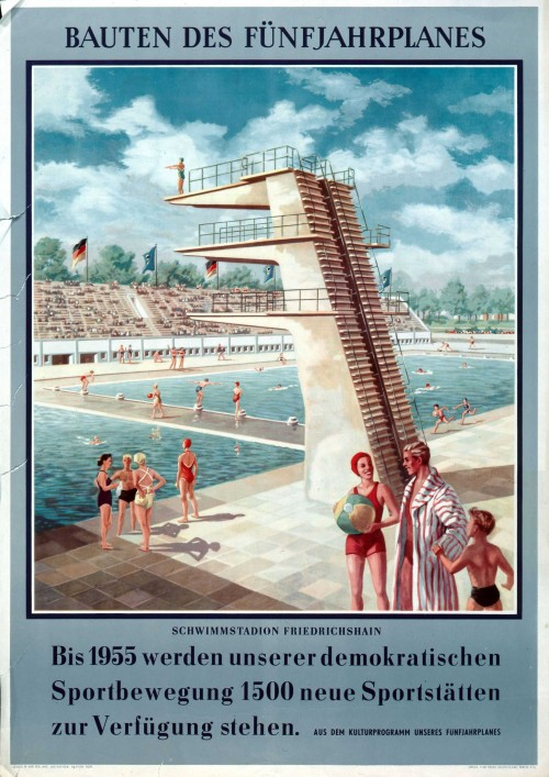 1954. Спортивные строения пятилетки.