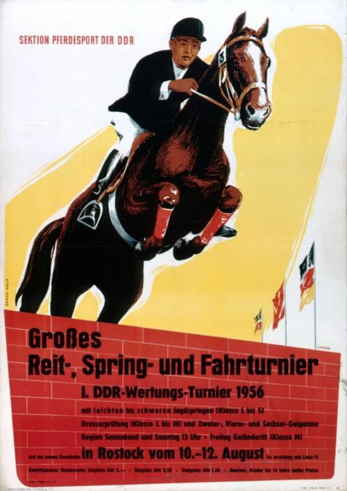 1954. Конный спорт в ГДР.