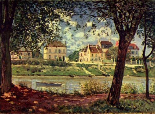 Сена в Сен-Мамме. 1884г. 50x65cm