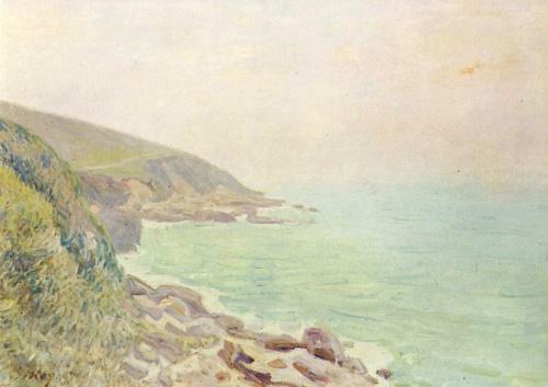 Туман на морском побережье. 1887г. 46x61cm