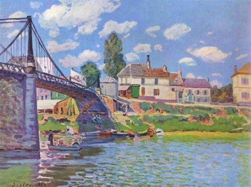 Мост в Аржантейе. 1872г.
