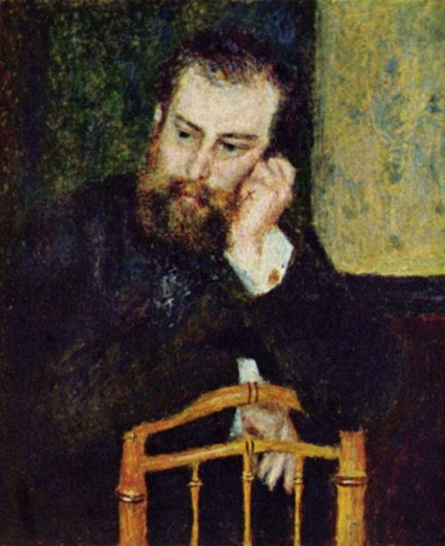 Портрет Альфреда Сислея. Выполнен О. Ренуаром. 1868г. 81x65cm