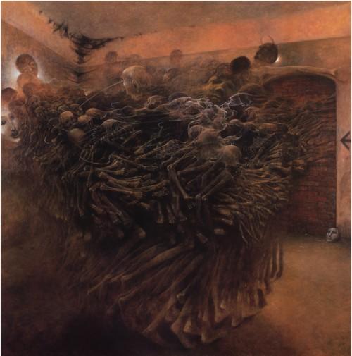 beksinski-kartiny-21 | Здислав Бексински - Zdzisław Beksiński. Поэзия после Освенцима | ARTeveryday.org