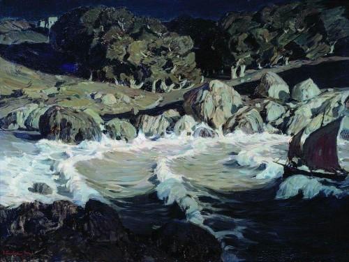 Ночь у моря. 1903 г
