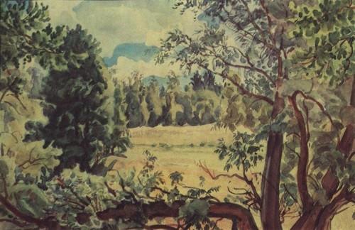 Лесной пейзаж. 1930-е | Константин Федорович Богаевский. Художник Киммерии. Часть2