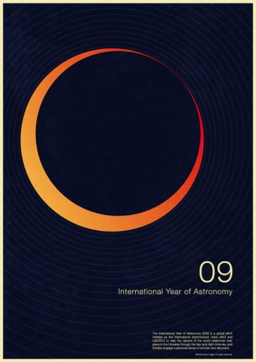 10 | Плакаты Simon Page к Международному Дню Астрономии 2009 | ARTeveryday.org