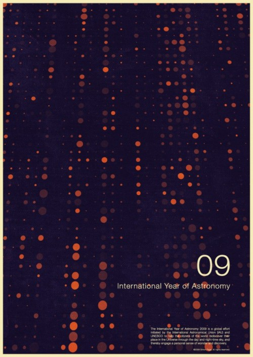 1 | Плакаты Simon Page к Международному Дню Астрономии 2009 | ARTeveryday.org