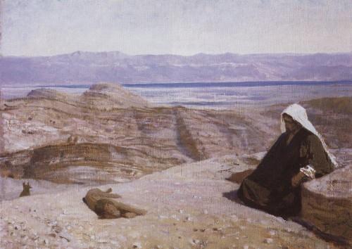 Был в пустыне. 1909 г | Василий Дмитриевич Поленов. Русский живописец | ARTeveryday.org