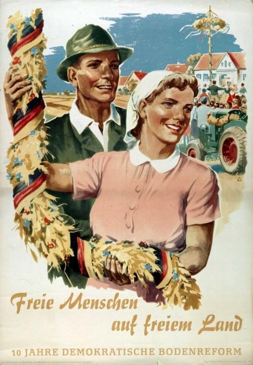 Свободные люди на свободной земле!10 лет земельной реформе. 1955 г.