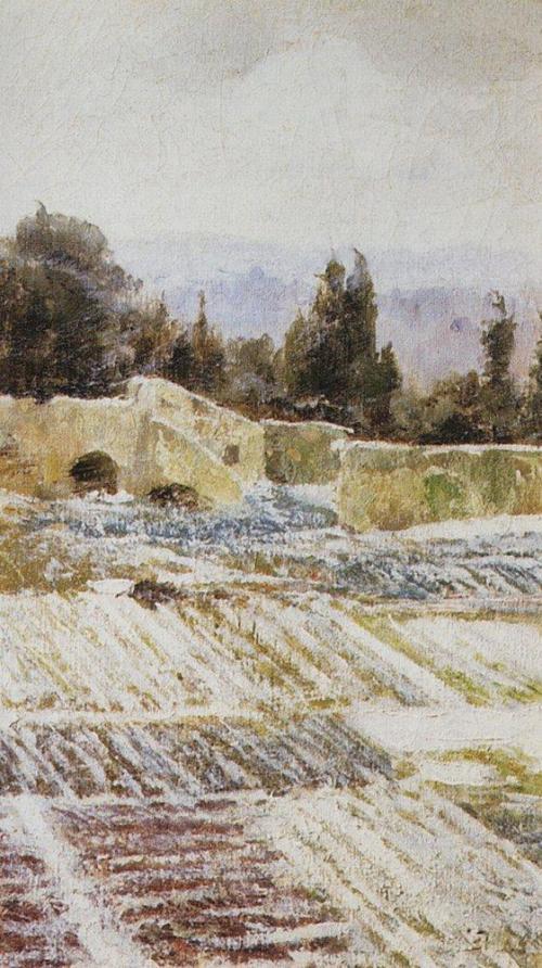 Зима в Риме. 1872 г | Василий Дмитриевич Поленов. Русский живописец | ARTeveryday.org