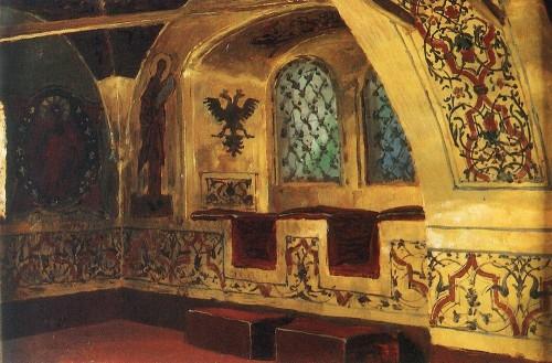 Золотая царицина палата. 1877 г | Василий Дмитриевич Поленов. Русский живописец | ARTeveryday.org