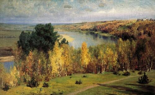 Осень золотая. 1893 г | Василий Дмитриевич Поленов. Русский живописец | ARTeveryday.org