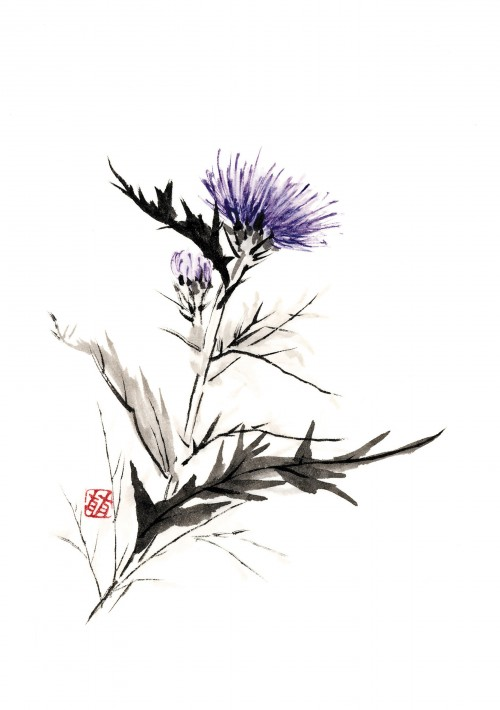 2 | Рицуо Сугияма. Японские акварели суми-э | ARTeveryday.org