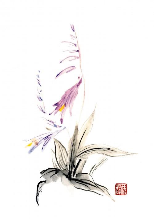 3 | Рицуо Сугияма. Японские акварели суми-э | ARTeveryday.org