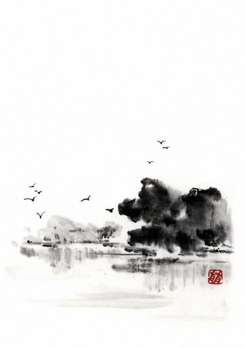 6 | Рицуо Сугияма. Японские акварели суми-э | ARTeveryday.org