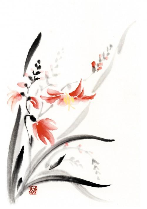 7 | Рицуо Сугияма. Японские акварели суми-э | ARTeveryday.org