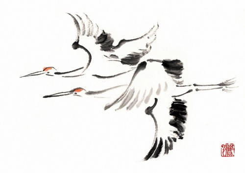 8 | Рицуо Сугияма. Японские акварели суми-э | ARTeveryday.org