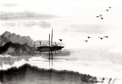 10 | Рицуо Сугияма. Японские акварели суми-э | ARTeveryday.org