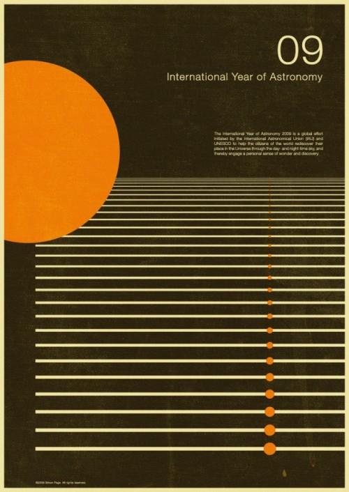 2 | Плакаты Simon Page к Международному Дню Астрономии 2009 | ARTeveryday.org