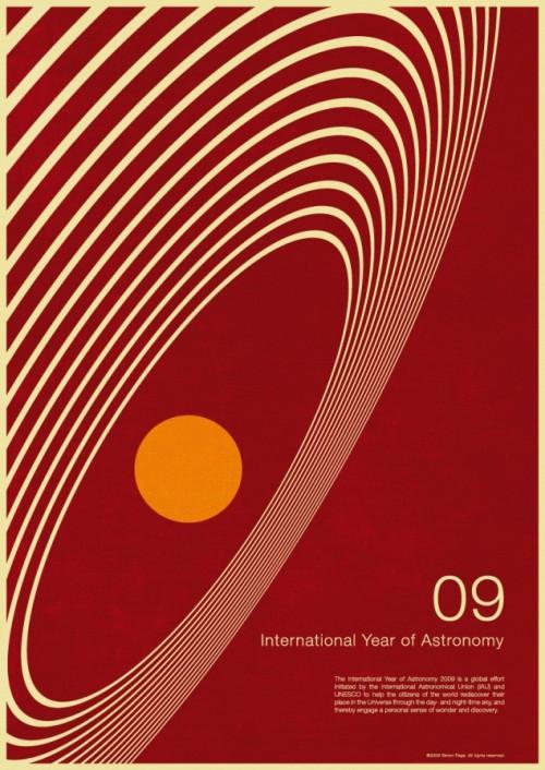 8 | Плакаты Simon Page к Международному Дню Астрономии 2009 | ARTeveryday.org