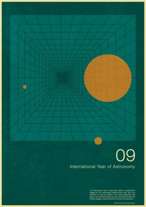 7 | Плакаты Simon Page к Международному Дню Астрономии 2009 | ARTeveryday.org