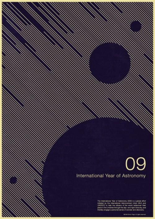6 | Плакаты Simon Page к Международному Дню Астрономии 2009 | ARTeveryday.org