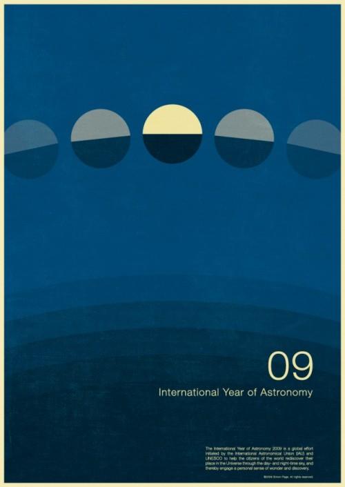 4 | Плакаты Simon Page к Международному Дню Астрономии 2009 | ARTeveryday.org