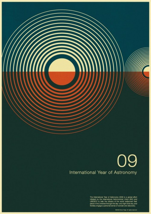 3 | Плакаты Simon Page к Международному Дню Астрономии 2009 | ARTeveryday.org