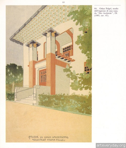 5 | Disegni della Wagnerschule - Архитектурная графика школы Отто Вагнера | ARTeveryday.org