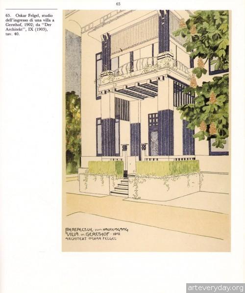 6 | Disegni della Wagnerschule - Архитектурная графика школы Отто Вагнера | ARTeveryday.org