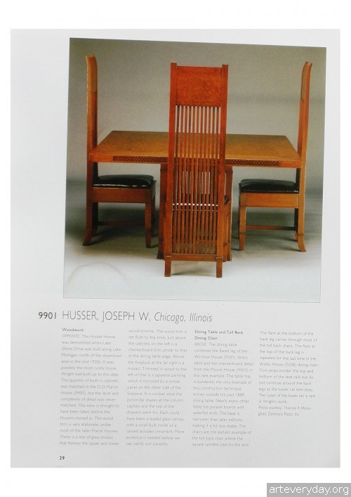 3 | Фрэнк Ллойд Райт - Frank Lloyd Wright. Интерьеры и мебель | ARTeveryday.org
