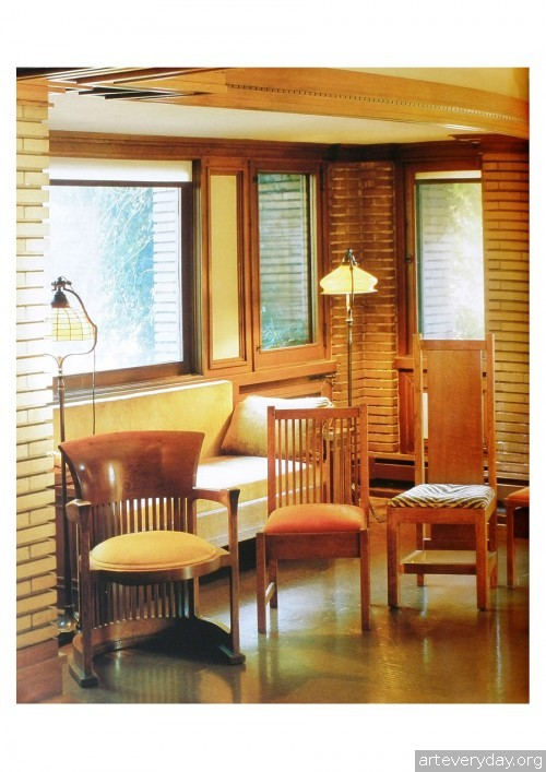 7 | Фрэнк Ллойд Райт - Frank Lloyd Wright. Интерьеры и мебель | ARTeveryday.org