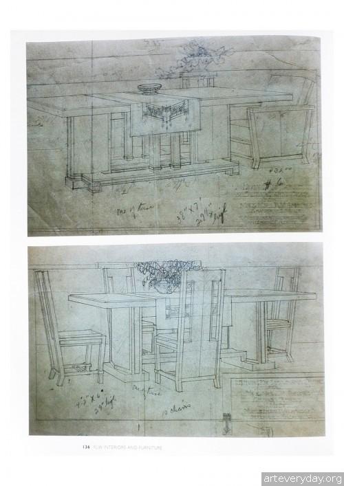 9 | Фрэнк Ллойд Райт - Frank Lloyd Wright. Интерьеры и мебель | ARTeveryday.org