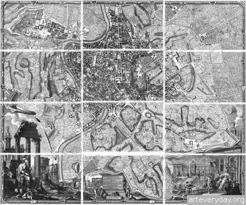 Pianta_di_Roma_1 | Giovanni Battista Nolli - Джованни Баттиста Нолли. Карта Рима 1784 года | ARTeveryday.org