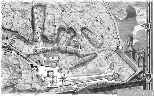 Pianta_di_Roma_10 | Giovanni Battista Nolli - Джованни Баттиста Нолли. Карта Рима 1784 года | ARTeveryday.org
