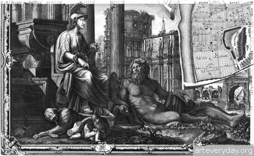 Pianta_di_Roma_11 | Giovanni Battista Nolli - Джованни Баттиста Нолли. Карта Рима 1784 года | ARTeveryday.org