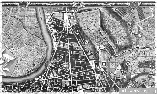 Pianta_di_Roma_3 | Giovanni Battista Nolli - Джованни Баттиста Нолли. Карта Рима 1784 года | ARTeveryday.org