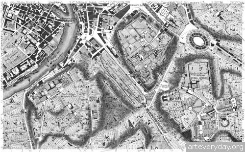 Pianta_di_Roma_9 | Giovanni Battista Nolli - Джованни Баттиста Нолли. Карта Рима 1784 года | ARTeveryday.org