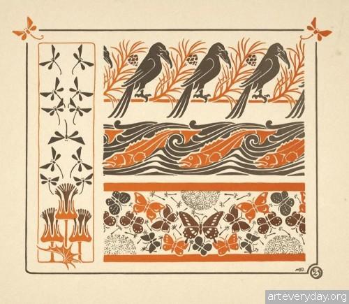 10 | Combinaisons ornementales - Альбом орнаментов в стиле Арт Нуво | ARTeveryday.org