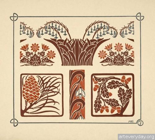 4 | Combinaisons ornementales - Альбом орнаментов в стиле Арт Нуво | ARTeveryday.org