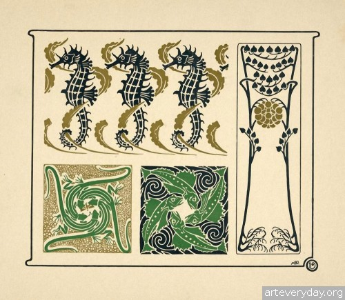 6 | Combinaisons ornementales - Альбом орнаментов в стиле Арт Нуво | ARTeveryday.org