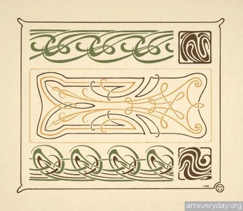 7 | Combinaisons ornementales - Альбом орнаментов в стиле Арт Нуво | ARTeveryday.org