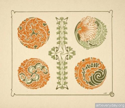 8 | Combinaisons ornementales - Альбом орнаментов в стиле Арт Нуво | ARTeveryday.org