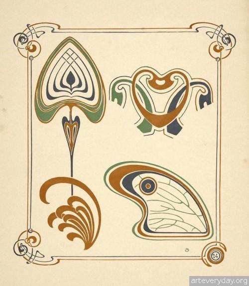 9 | Combinaisons ornementales - Альбом орнаментов в стиле Арт Нуво | ARTeveryday.org