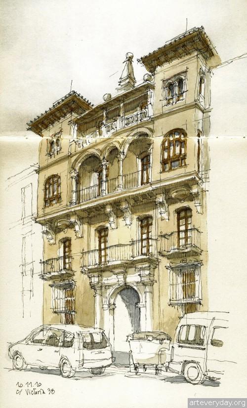 1 | Архитектурные зарисовки | ARTeveryday.org