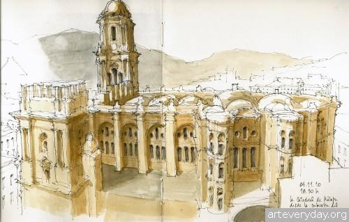 10 | Архитектурные зарисовки | ARTeveryday.org