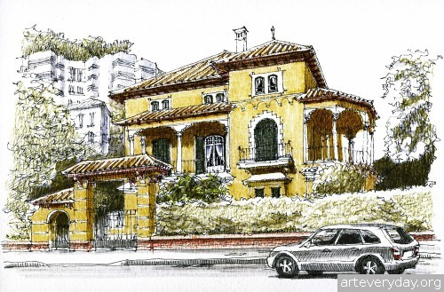 3 | Архитектурные зарисовки | ARTeveryday.org
