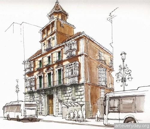 4 | Архитектурные зарисовки | ARTeveryday.org
