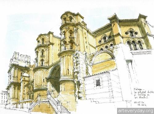 6 | Архитектурные зарисовки | ARTeveryday.org