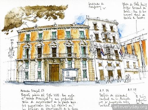 8 | Архитектурные зарисовки | ARTeveryday.org